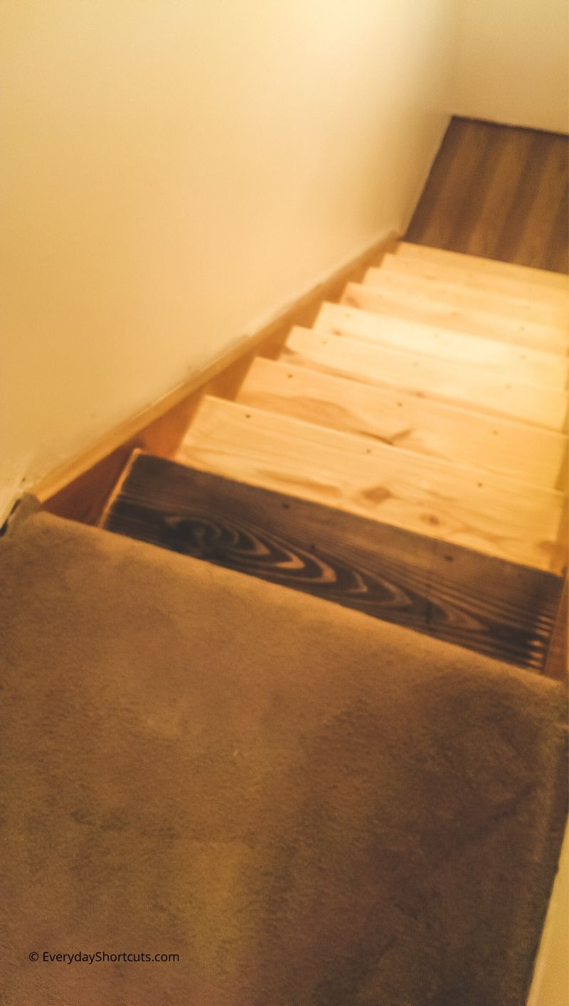 carpet to wood stairs makeover