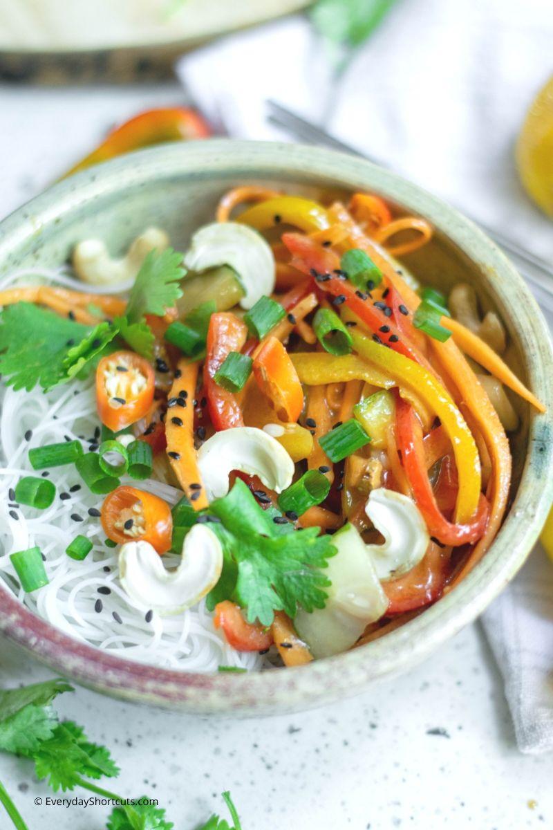 Thai Salad with Peanut Butter Sauce