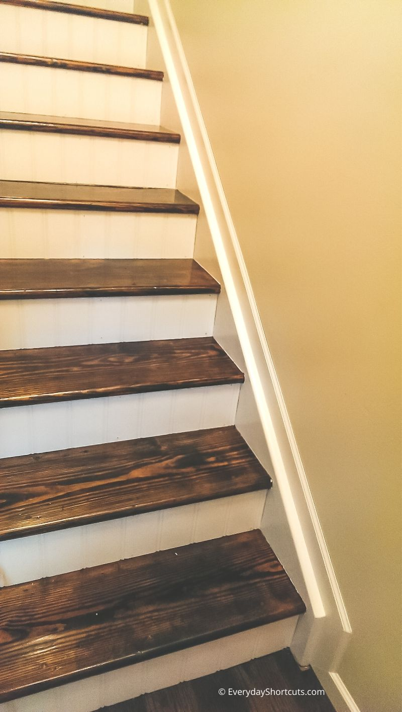 diy stairs makeover tutorial