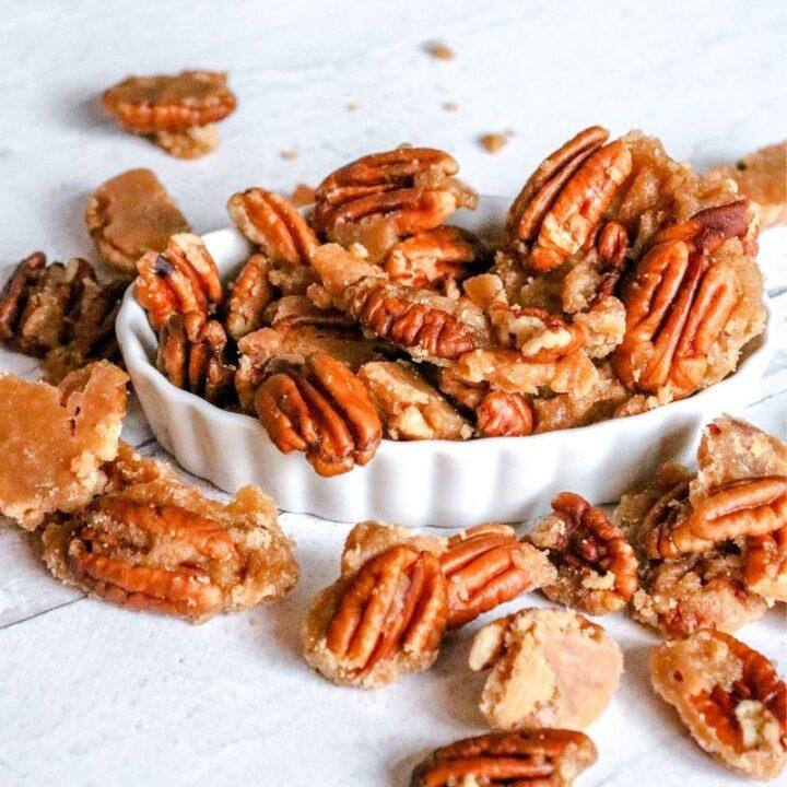 Keto Caramel Pecans
