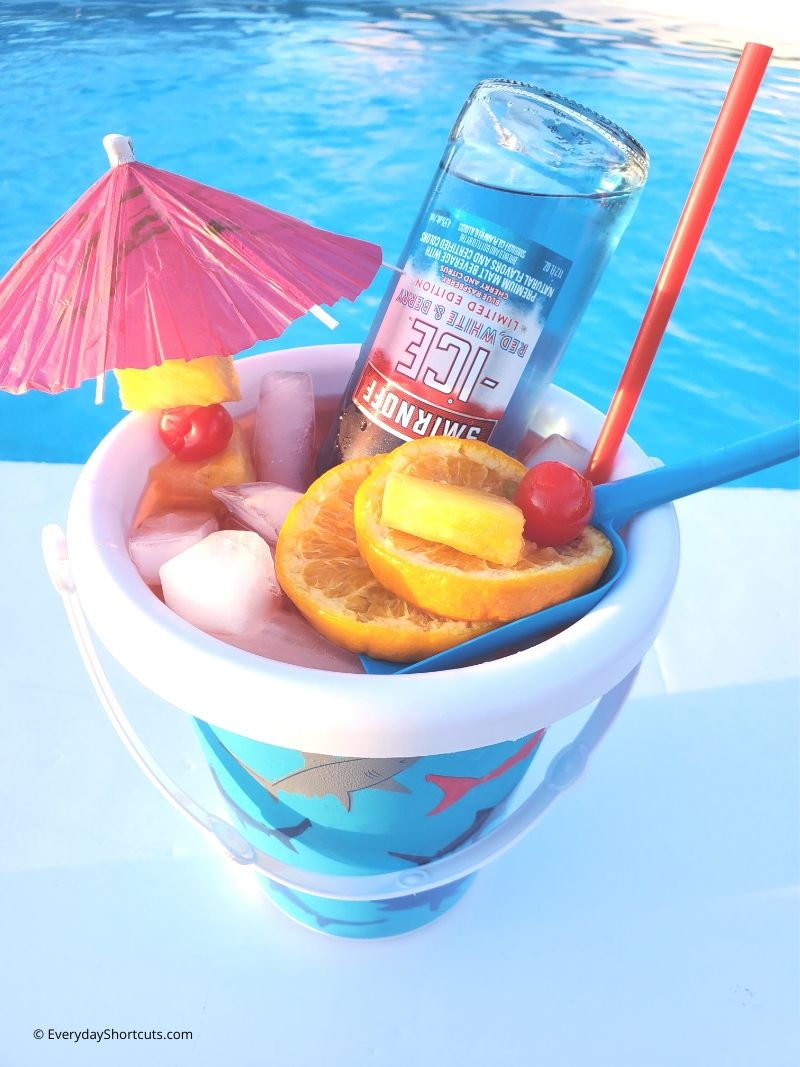 Beach Bucket Cocktail Everyday Shortcuts