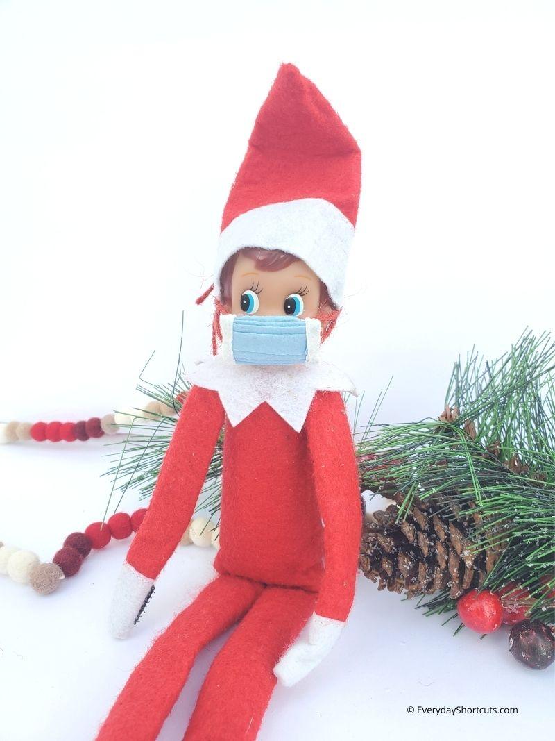 DIY Elf on the Shelf Face Mask
