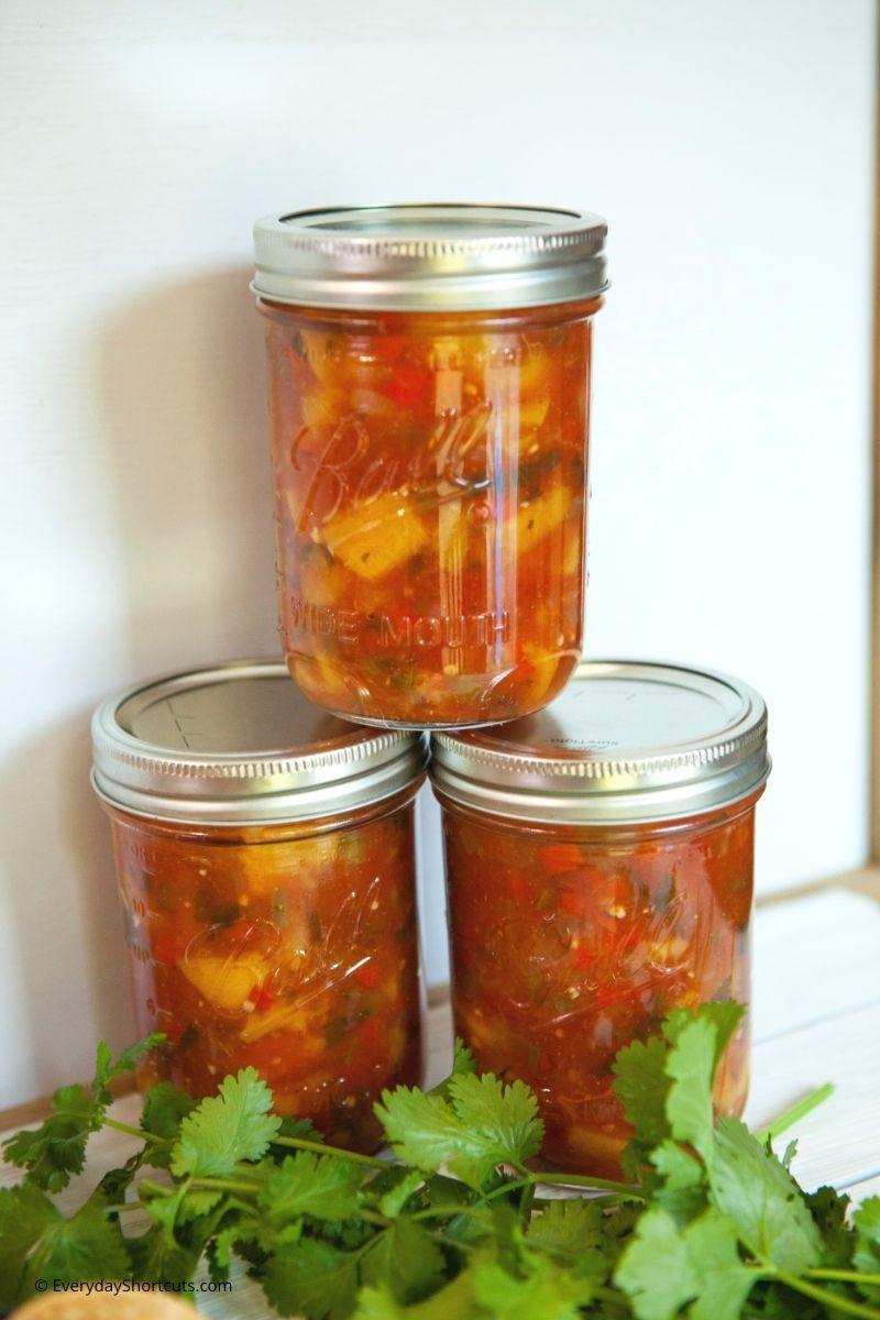 canning tutorial for peach salsa