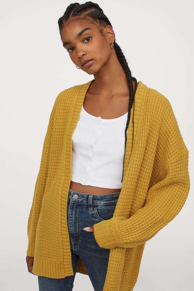 H&M Textured Knit Cardigan Image