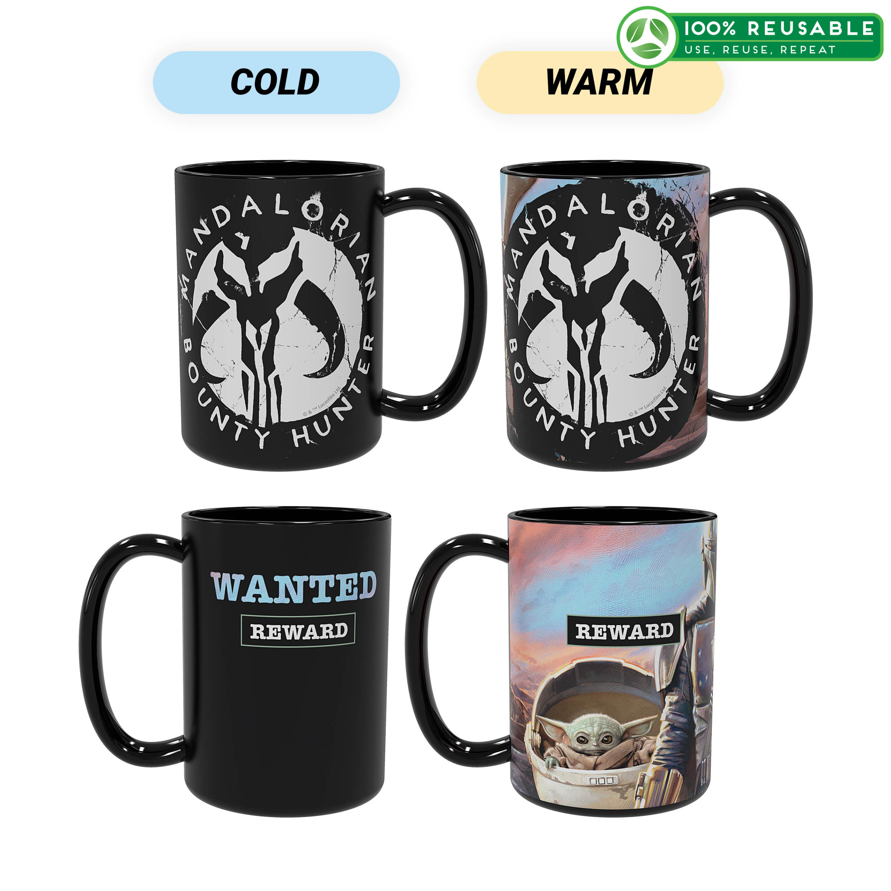 Zak! Star Wars: The Mandalorian Coffee Mug Image
