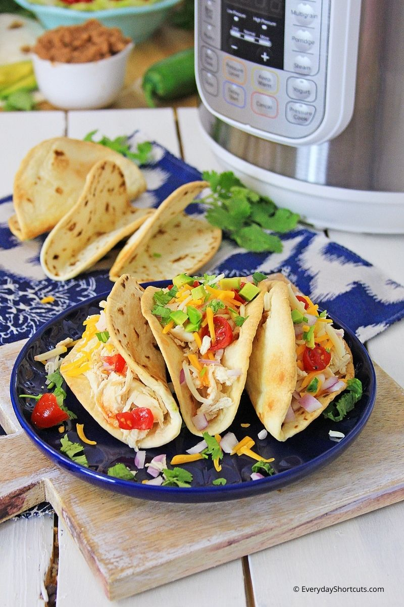 Instant Pot Sweet Chili Lime Chicken Tacos