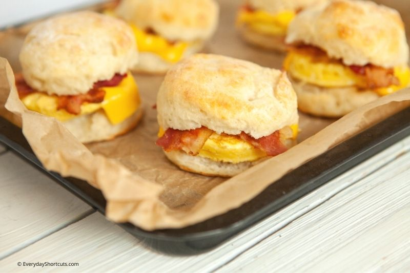 homemade Weight Watchers Bacon Egg and Cheese Biscuits