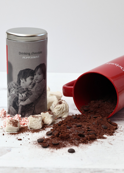 Delysia Chocolatier Drinking Peppermint Chocolate + Mug Image