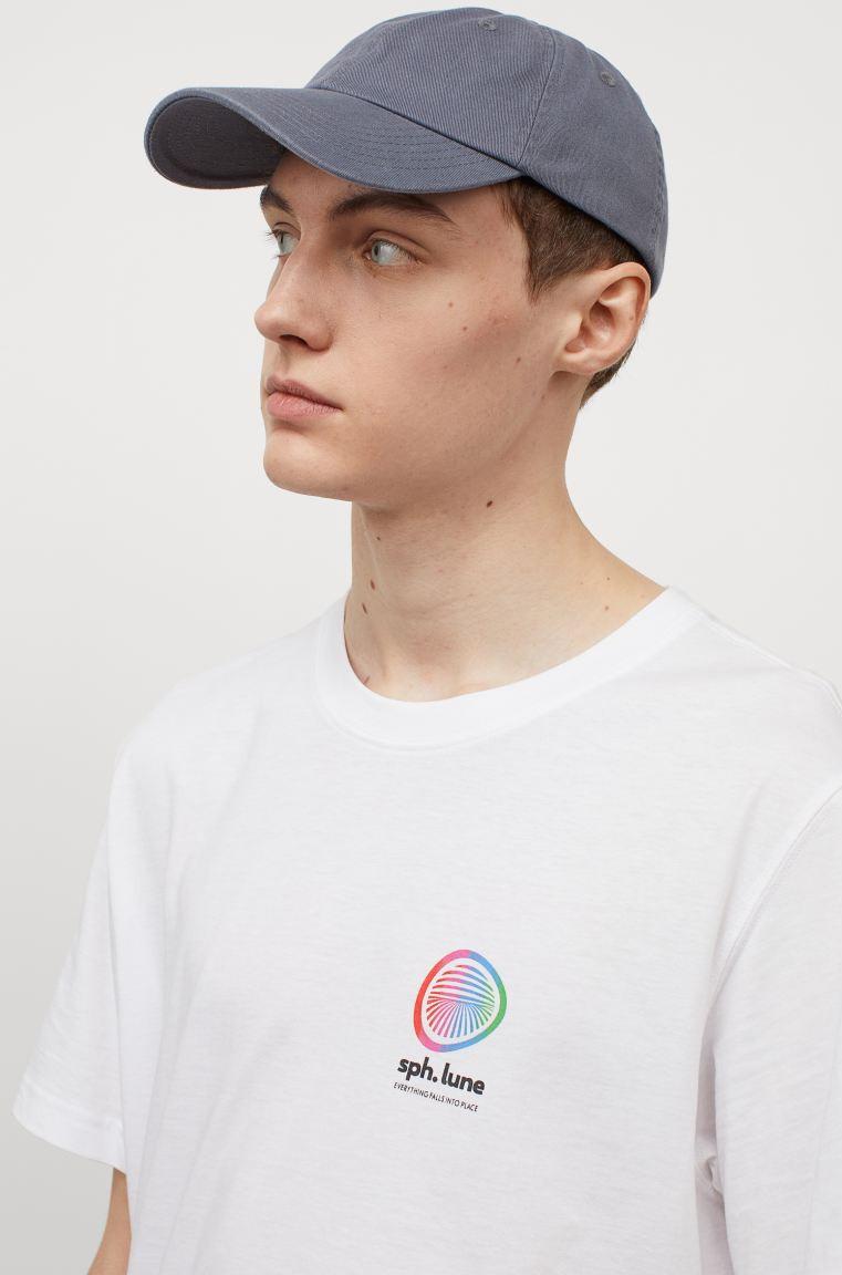 H&M White/Spherical Lune T Shirt Image