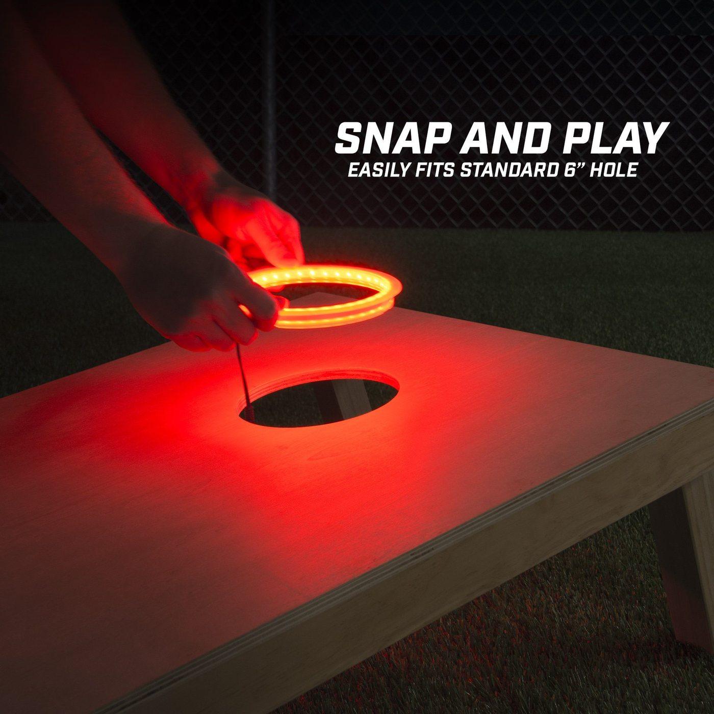 GoSports Cornhole Light Up LED Ring Kit Image